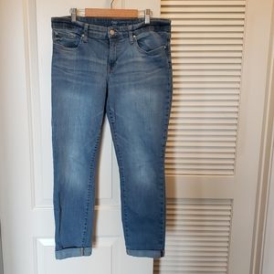 Gap skinny rollup crop Jeans Light Wash Sz 10